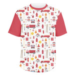 Firefighter Character Men's Crew T-Shirt (Personalized)