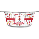 Firefighter Character Stainless Steel Dog Bowl (Personalized)
