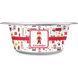 Firefighter for Kids Stainless Steel Pet Bowl (Personalized)