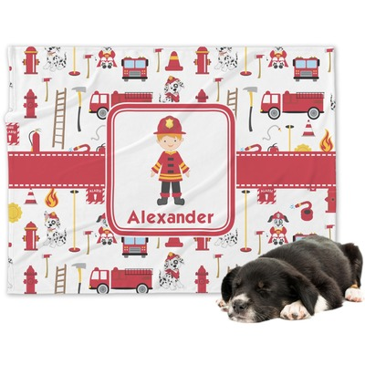 Firefighter Character Dog Blanket (Personalized)