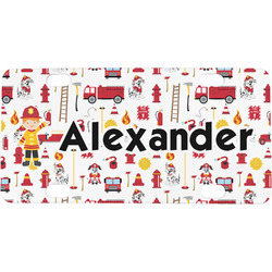 Firefighter for Kids Mini / Bicycle License Plate (Personalized)