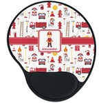 Firefighter Character Mouse Pad with Wrist Support