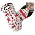 Firefighter Character Neoprene Oven Mitt w/ Name or Text