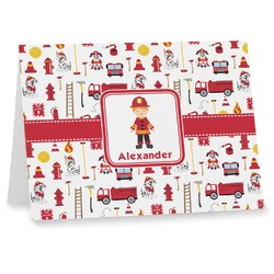 Firefighter for Kids Notecards (Personalized)