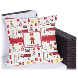 """Firefighter for Kids Outdoor Pillow - 16"""" (Personalized)"""