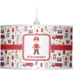 Firefighter Drum Pendant Lamp (Personalized)
