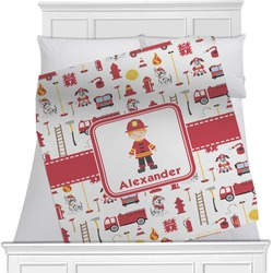 Firefighter Character Minky Blanket (Personalized)