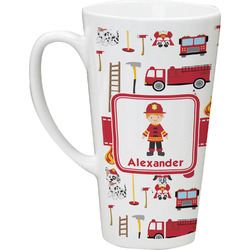 Firefighter for Kids Latte Mug (Personalized)