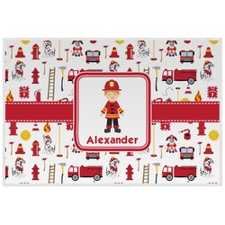Firefighter for Kids Laminated Placemat w/ Name or Text