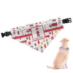 Firefighter Character Dog Bandana (Personalized)