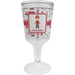 Firefighter Wine Tumbler - 11 oz Plastic (Personalized)