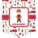 Firefighter Character Iron On Faux Pocket w/ Name or Text