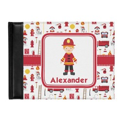 Firefighter for Kids Genuine Leather Guest Book (Personalized)