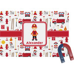 Firefighter Rectangular Fridge Magnet (Personalized)