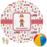 Firefighter Round Beach Towel (Personalized)