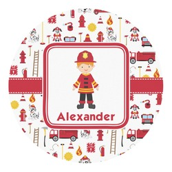 Firefighter Round Decal - Custom Size (Personalized)