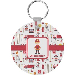 Firefighter Round Keychain (Personalized)