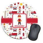 Firefighter for Kids Round Mouse Pad (Personalized)
