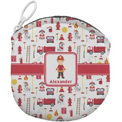 Firefighter for Kids Round Coin Purse (Personalized)
