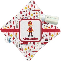 Firefighter Character Security Blanket w/ Name or Text