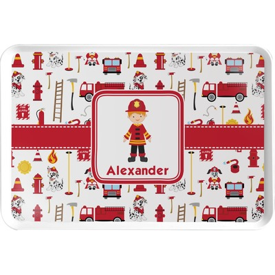 Firefighter Character Serving Tray w/ Name or Text