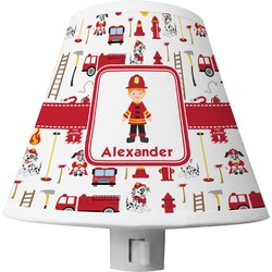 Firefighter Character Shade Night Light w/ Name or Text