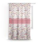 Firefighter Character Sheer Curtains (Personalized)