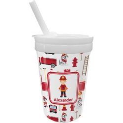 Firefighter for Kids Sippy Cup with Straw (Personalized)