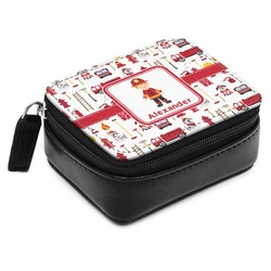 Firefighter for Kids Small Leatherette Travel Pill Case (Personalized)