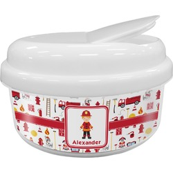 Firefighter Character Snack Container (Personalized)