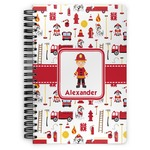Firefighter Character Spiral Bound Notebook (Personalized)