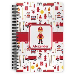 Firefighter Spiral Bound Notebook (Personalized)