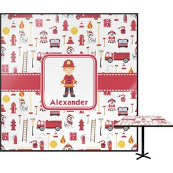 "Firefighter for Kids Square Table Top - 30"" (Personalized)"