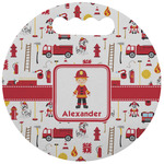 Firefighter Character Stadium Cushion (Round) (Personalized)