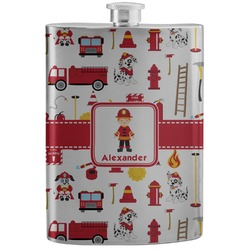 Firefighter Stainless Steel Flask (Personalized)