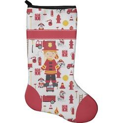Firefighter Christmas Stocking - Neoprene (Personalized)