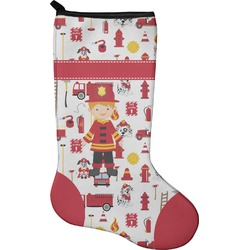 Firefighter for Kids Christmas Stocking - Neoprene (Personalized)