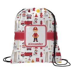 Firefighter for Kids Drawstring Backpack (Personalized)