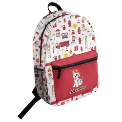 Firefighter Character Student Backpack (Personalized)