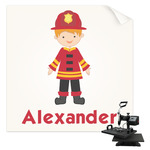 Firefighter Character Sublimation Transfer (Personalized)