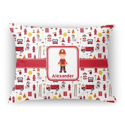 Firefighter Rectangular Throw Pillow (Personalized)