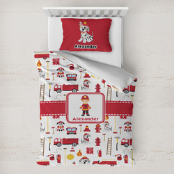 Firefighter for Kids Toddler Bedding w/ Name or Text