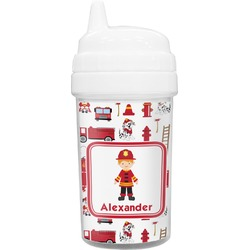 Firefighter for Kids Toddler Sippy Cup (Personalized)