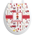 Firefighter Character Toilet Seat Decal (Personalized)