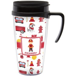 Firefighter Travel Mug with Handle (Personalized)