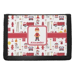 Firefighter Character Trifold Wallet w/ Name or Text
