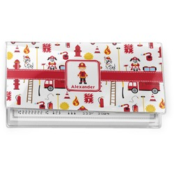 Firefighter Character Vinyl Checkbook Cover w/ Name or Text