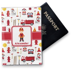 Firefighter Character Vinyl Passport Holder w/ Name or Text