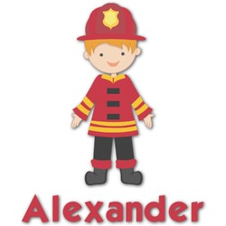 Firefighter Character Graphic Decal - Custom Sizes (Personalized)