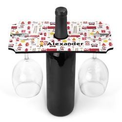 Firefighter Wine Bottle & Glass Holder (Personalized)